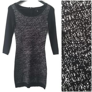 Le Chateau women's black and white sweater dress